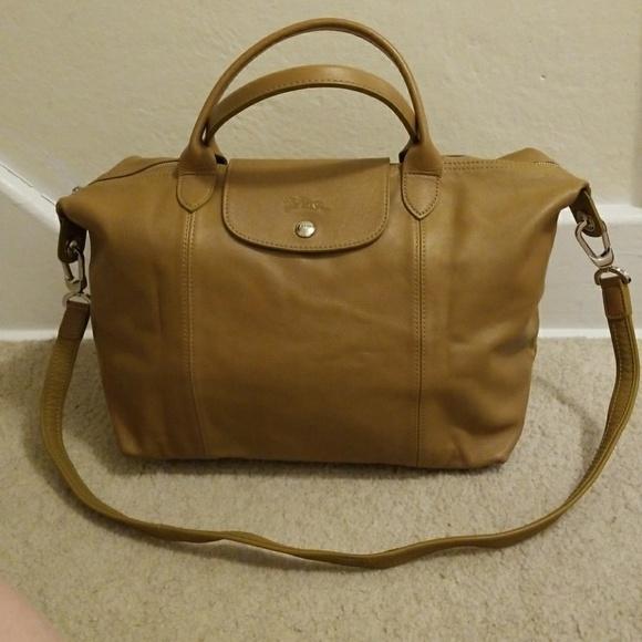Longchamp Handbags - NWOT Longchamp Le Pliage Cuir Travel Bag L Natural 6406dceb49f